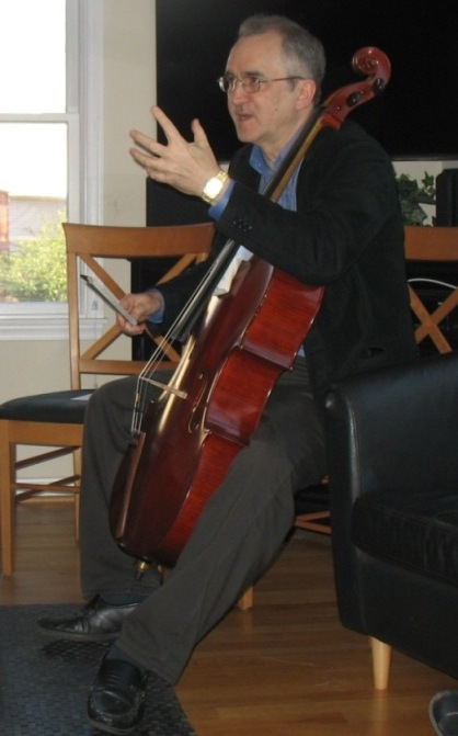 Robert Battey with cello
